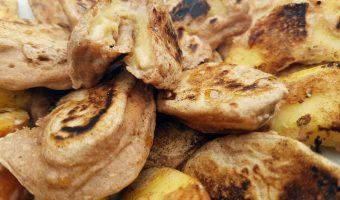 Healthy banaan- en appelflappen als ontbijt