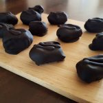 Verantwoorde snack; chocolade dadels