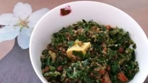 snelle makkelijke warme boerenkoolsalade
