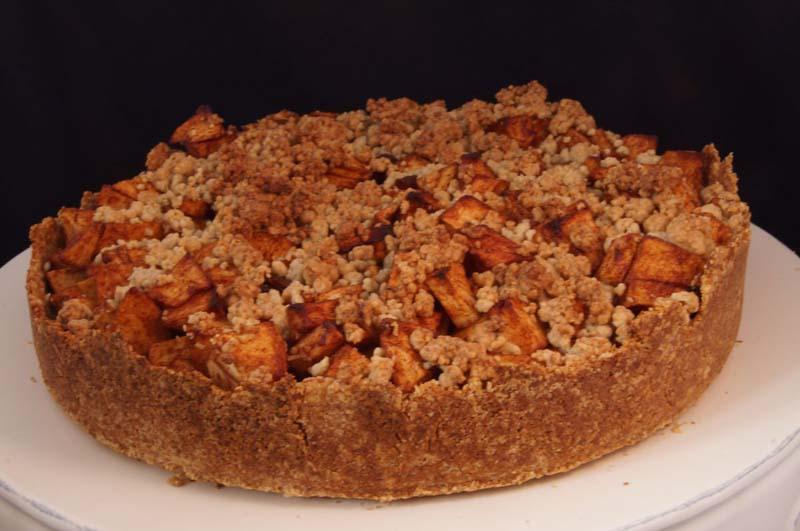 glutenvrije vegan appeltaart — the happy chickpea