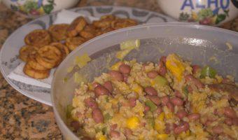 rijst bowl met bonen