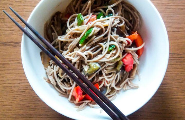 Boekweitnoodles; vegan koken in Japan