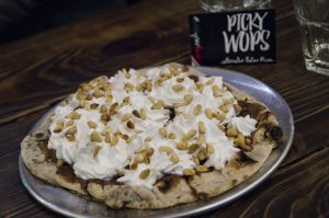 PickyWops London desert pizza nutella whipped cream