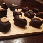 Gevulde dadels omhuld met chocolade
