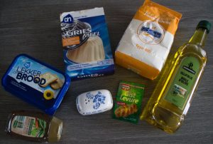 Marokkaanse msemen ingrediënten