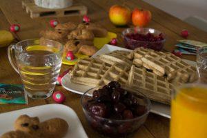 paasbrunch wafels met fruit
