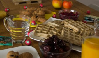 paasbrunch wafels met fruit